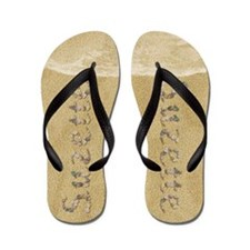Suzette Seashells Flip Flops