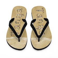Tanya Seashells Flip Flops
