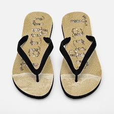 Taryn Seashells Flip Flops