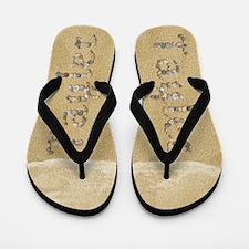 Tayler Seashells Flip Flops