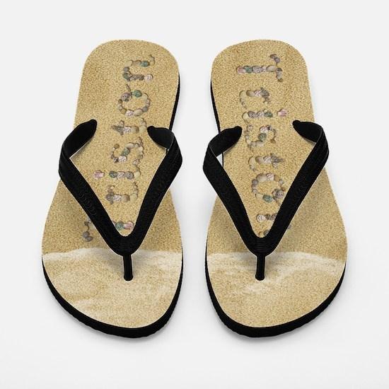 Triston Seashells Flip Flops