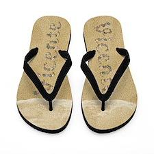 Vicente Seashells Flip Flops
