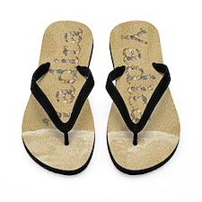 Yadira Seashells Flip Flops