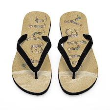 Yahir Seashells Flip Flops