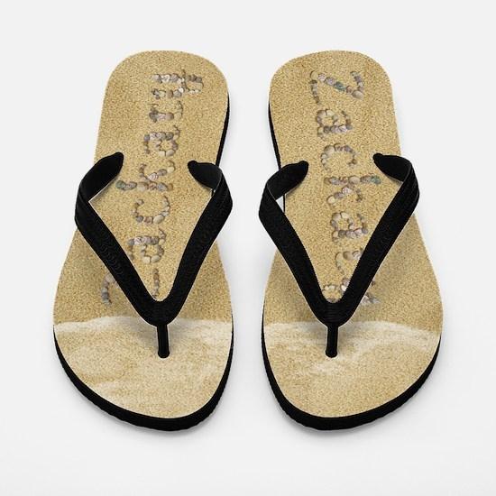 Zackary Seashells Flip Flops