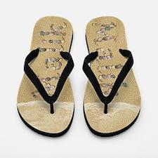 Malik Seashells Flip Flops
