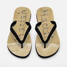 Mariah Seashells Flip Flops