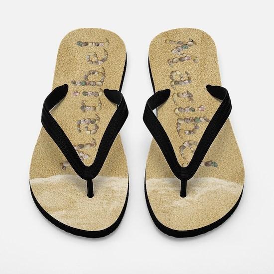 Maribel Seashells Flip Flops