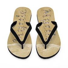 Myrtle Seashells Flip Flops