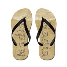 Nadia Seashells Flip Flops