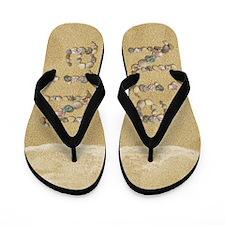 Nia Seashells Flip Flops