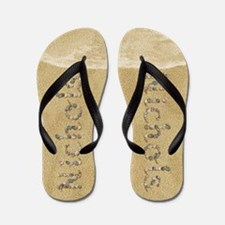 Nichols Seashells Flip Flops