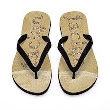Jaclyn Seashells Flip Flops