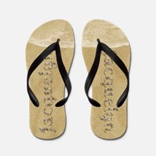 Jacquelyn Seashells Flip Flops