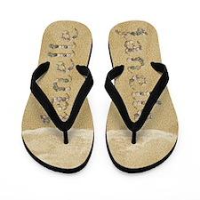 Janelle Seashells Flip Flops