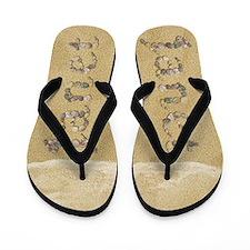 Janet Seashells Flip Flops