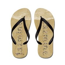 Jazmine Seashells Flip Flops
