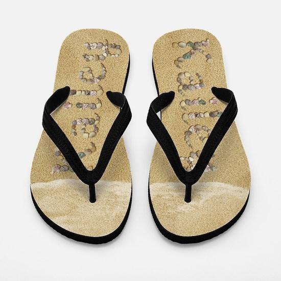 Kailey Seashells Flip Flops