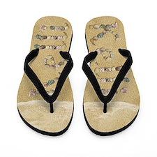 Kelli Seashells Flip Flops
