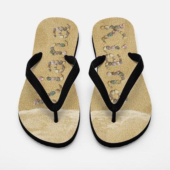 Kiana Seashells Flip Flops