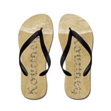 Kourtney Seashells Flip Flops
