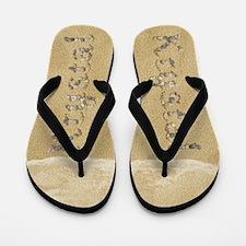 Krystal Seashells Flip Flops