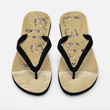 Laila Seashells Flip Flops