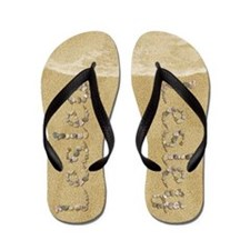 Lesley Seashells Flip Flops