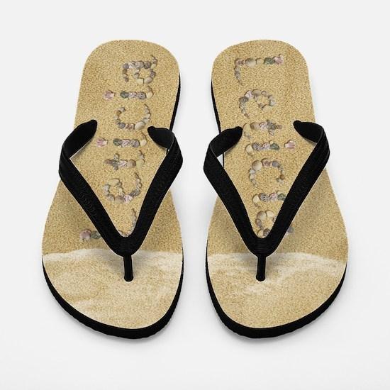 Leticia Seashells Flip Flops