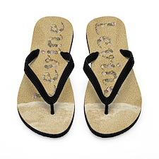 Levine Seashells Flip Flops
