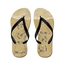 Lisa Seashells Flip Flops