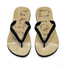 Dion Seashells Flip Flops