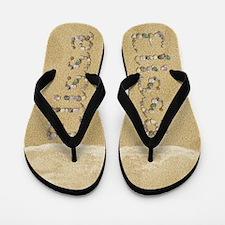 Elissa Seashells Flip Flops