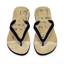 Eliza Seashells Flip Flops