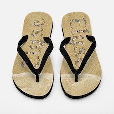 Elyse Seashells Flip Flops