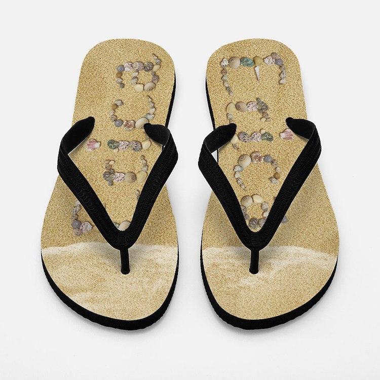 Erica Seashells Flip Flops