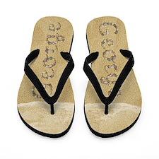 George Seashells Flip Flops