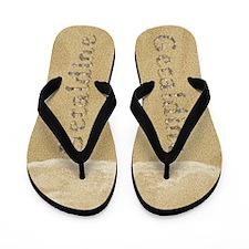 Geraldine Seashells Flip Flops