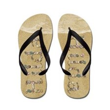 Hilda Seashells Flip Flops
