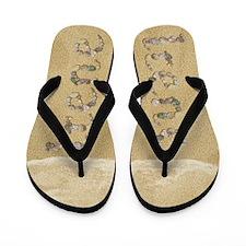 Irene Seashells Flip Flops