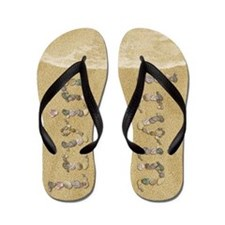 Irvin Seashells Flip Flops
