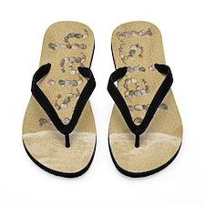 Isiah Seashells Flip Flops