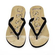 Issac Seashells Flip Flops