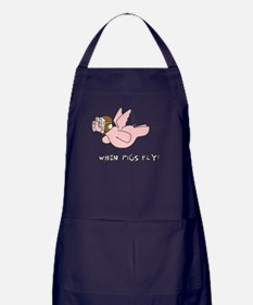 When Pigs Fly! Apron (dark)