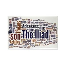 Word Art from Homer's Iliad Rectangle Magnet