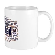Word Art from Homer's Iliad Small Mug
