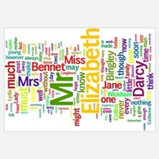 Word Art from Jane Austen's Pride and Prejudice