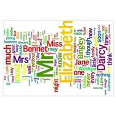 Word Art from Jane Austen's Pride and Prejudice Poster