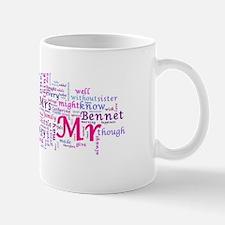 Word Art from Jane Austen's Pride and P Mug