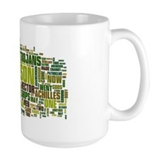 Word Art from Homer's Iliad Mug